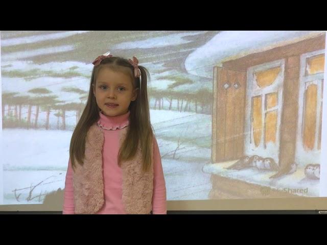Изображение предпросмотра прочтения – АриаднаАмелина читает произведение «Поёт зима— аукает…» С.А.Есенина