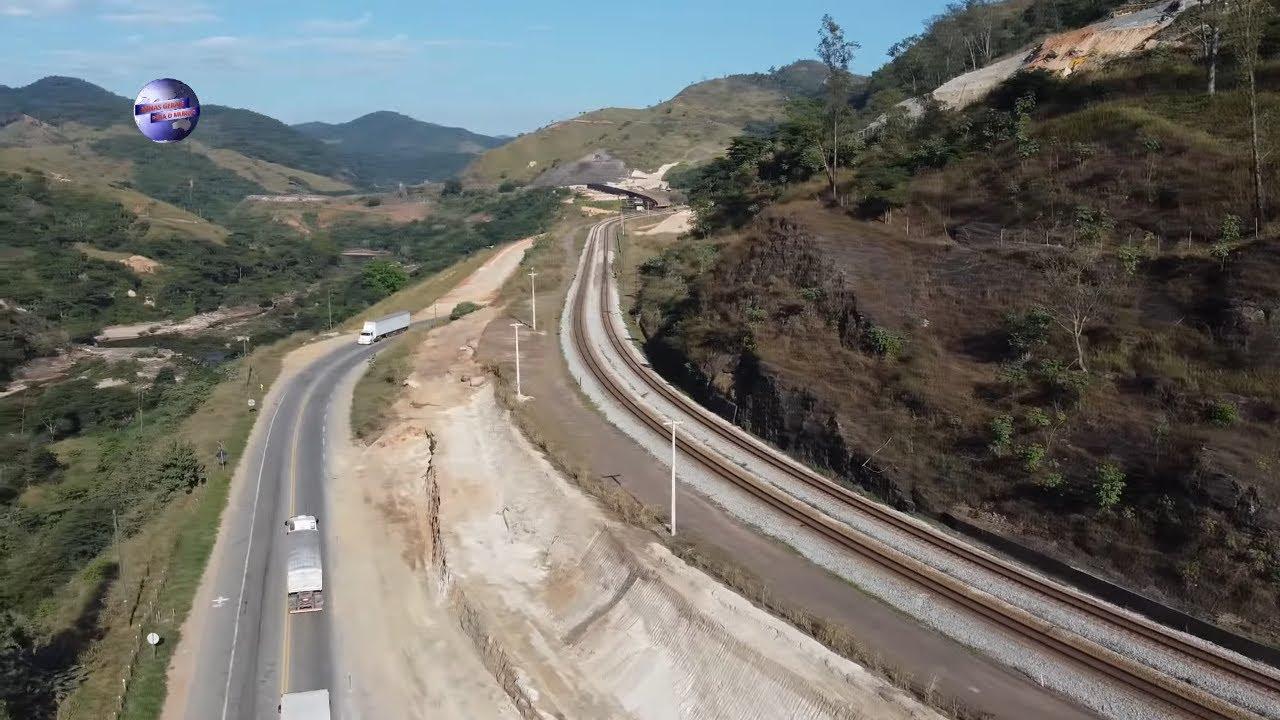 BR 381 PONTE SEVERO OBRAS DUPLICAÇÃO CIDADE DE ANTÔNIO DIAS MINAS GERAIS BRASIL.