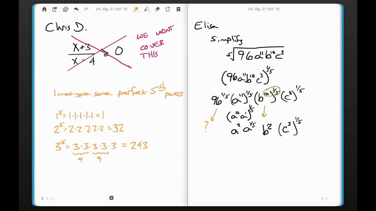 Some Practice With Radicals And Rational Exponents