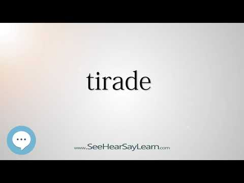 tirade    5,000 SAT Test Words and Definitions Series 🔊