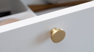 DIY : How to mount a handle or a coat hook by Søstrene Grene