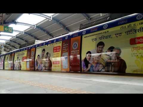 The Amazing Branding on Metro Train, New Delhi India, the Smart India