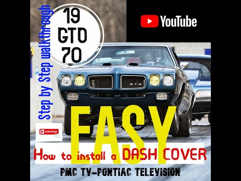 PMC TV DASH COVER INSTALL TIPS 1970 GTO
