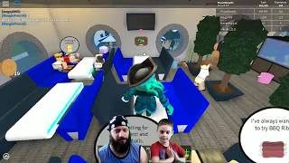 5 star restaurant! Father and son playing Roblox Restaurant Tycoon. Twitch audition PART#2