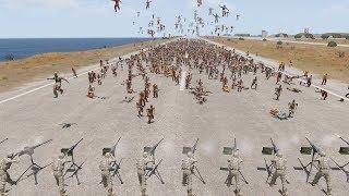 15 MACHINE GUNS vs MASSIVE ZOMBIE HORDES - ArmA 3 (Zombie & Demons)