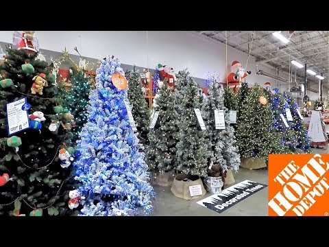 HOME DEPOT CHRISTMAS - CHRISTMAS TREES INFLATABLES ORNAMENTS DECORATIONS HOME DECOR SHOPPING