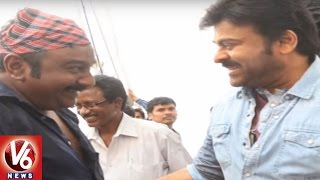 Megastar Chiranjeevi Directs VV Vinayak's Cameo Scene | Khaidi No.150 | Tollywood Gossips | V6News