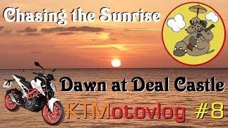 KTMotovlog #8  Chasing the Sunrise - Dawn at Deal Castle