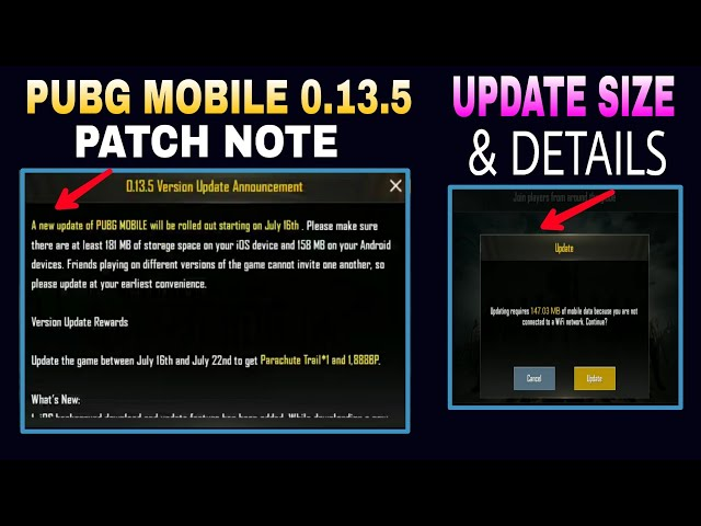 Pubg Mobile Season 8 Patch Notes and 0 13 5 Update & Details Is Here😍
