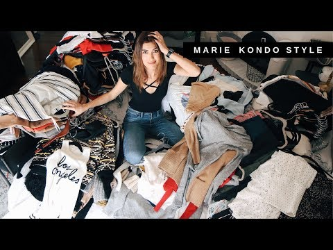 ORGANIZO MI CLOSET COMO MARIE KONDO + Closet Tour - @karelytips