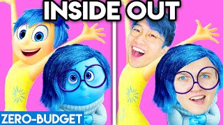 INSIDE OUT WITH ZERO BUDGET! (INSIDE OUT DISNEY MOVIE PARODY BY LANKYBOX!)