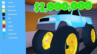 MAXING OUT THE MONSTER TRUCK SU ROBLOX JAILBREAK!!