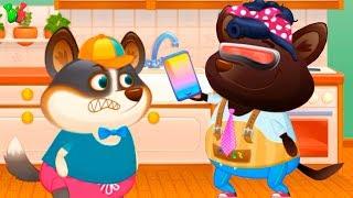 Песик ДУДУ идет в гости к друзьям Котика Бубу Мой виртуальный питомец Duddu Мульт для детей