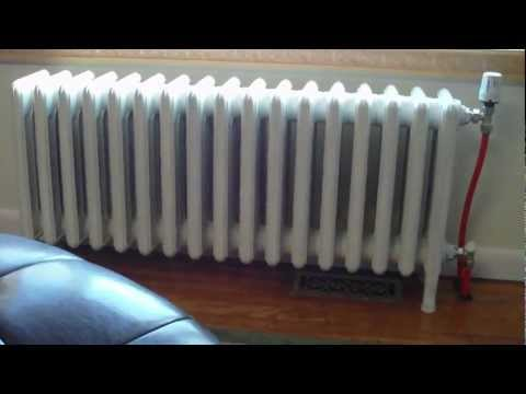 Cast iron radiator hot water conversion 2