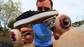 TURNING SKATE SHOES INTO A SKATEBOARD | SKATE EVERYTHING EP 13