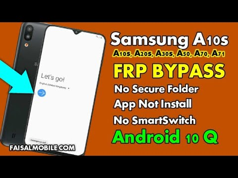 Samsung A10s Google Account Bypass || FRP Lock Remove Android 10 App Not Installed