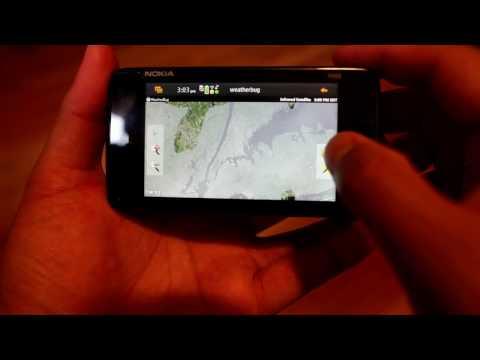 Nokia N900 App Overview: Weatherbug