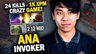 WTF THIS GAME!! ANA INVOKER 1K XPM + CRAZY PARTY EPIC FOUNTAIN DIVE - DOTA 2 INVOKER