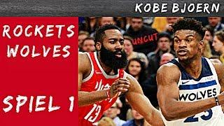 Rockets gegen Timberwolves Spiel 1 (NBA Playoff Analyse) - KobeBjoern uncut