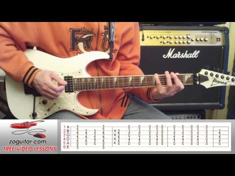 How To Play All Right Now by Free (main riff + TAB)