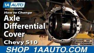 1aauto auto repair change rear axle differential cover oil fluid non posi