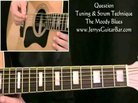 How To Play The Moody Blues Question (preview only) - YouTube