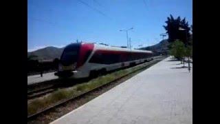 The new Chinese EMU 411-101/102 leaving Veles railway station