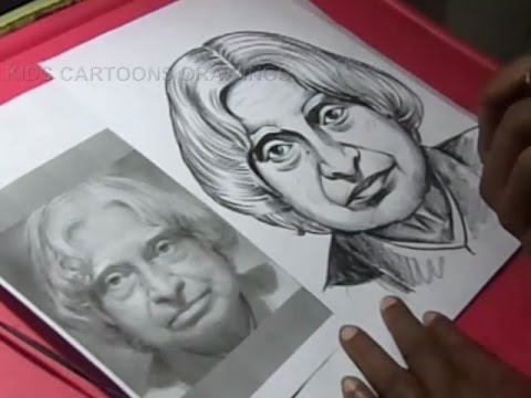How To Draw Legend Abdul Kalam Drawing Step By Step Youtube