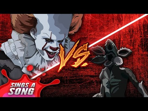 Pennywise Vs Demogorgon Rap Battle &39;IT&39; Vs Stranger Things Song