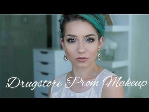DRUGSTORE PROM MAKEUP & HAIR | Quickie...