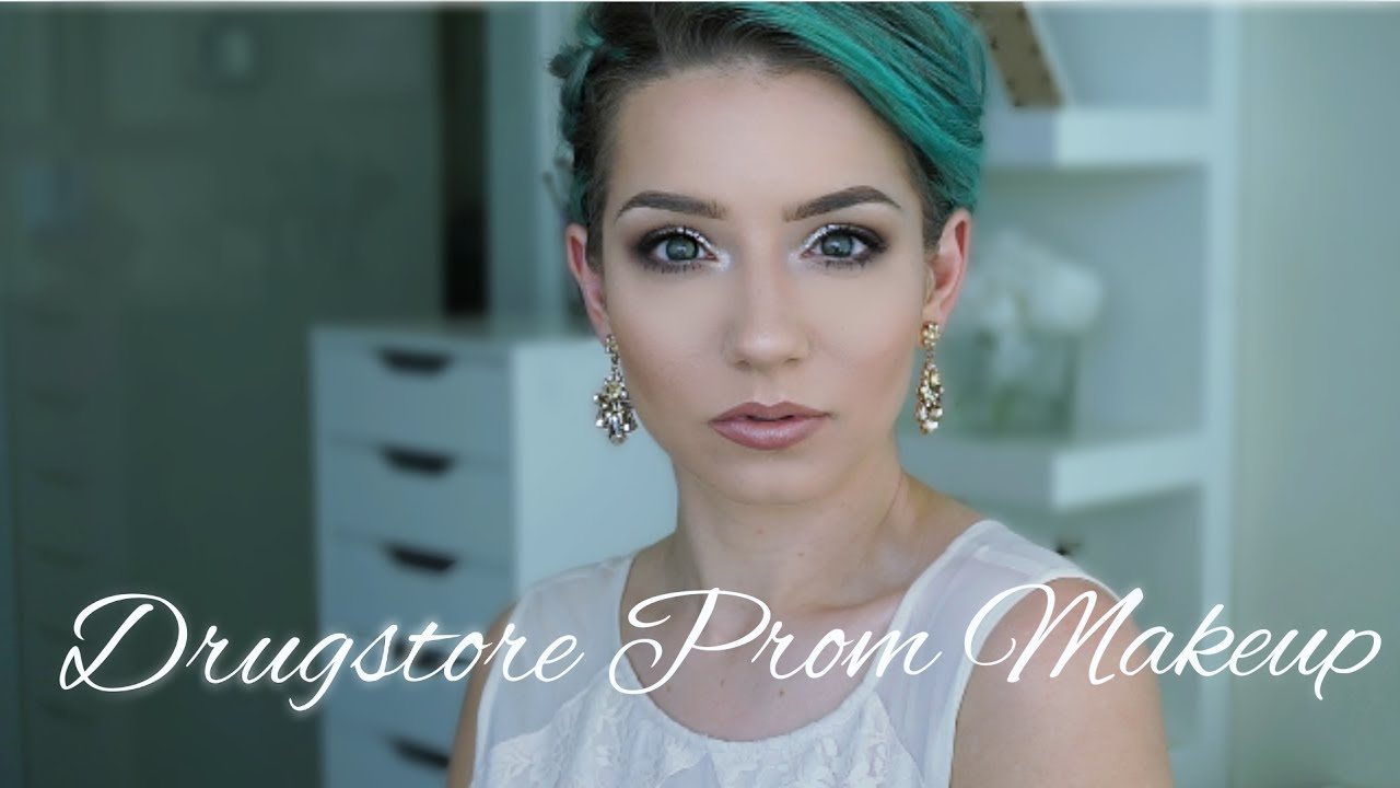 DRUGSTORE PROM MAKEUP & HAIR | Quickie Tutorial - YouTube