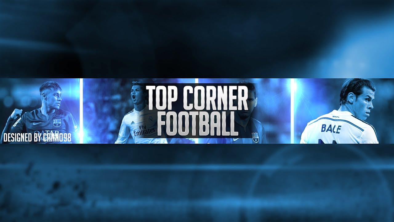 Top Corner Football Banner Icon Speed Art Youtube