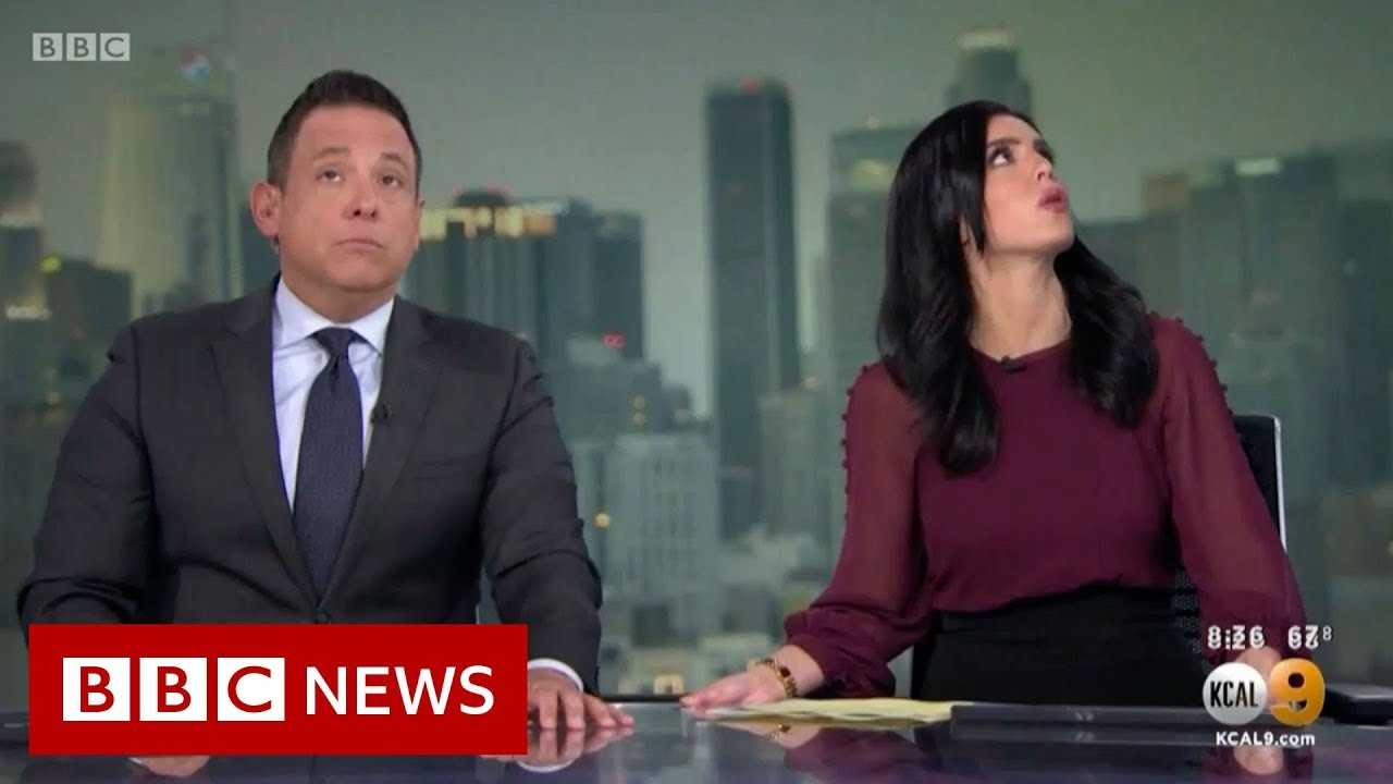 California Earthquake I Think We Need To Get Under The Desk Bbc News Youtube