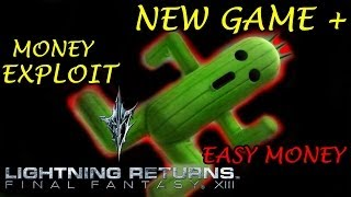 Lightning Returns FFXIII - New Game Plus Cactuar Fast Money Exploit HD 15k Gils For Fight 1080p