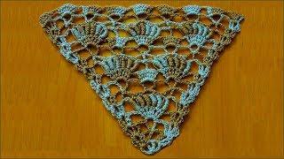 Узор для бактуса, шали. Бактус крючком. Узор для шали. Шаль крючком. Узор крючком. (crochet pattern)