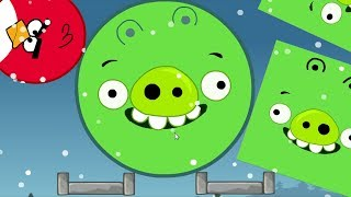 Angry Birds Kick Out Green Pigs - 3 GIANT PIGGIES GOT KICKED BY ONE TINY ROUND BIRD!