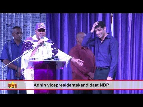Adhin vicepresidentskandidaat NDP