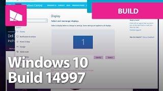Windows 10 Build 14997 - Set Up, Settings, Personalization, Edge + MORE