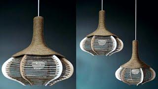 Diy Pendant hanging lamp || cardboard hanging lamp