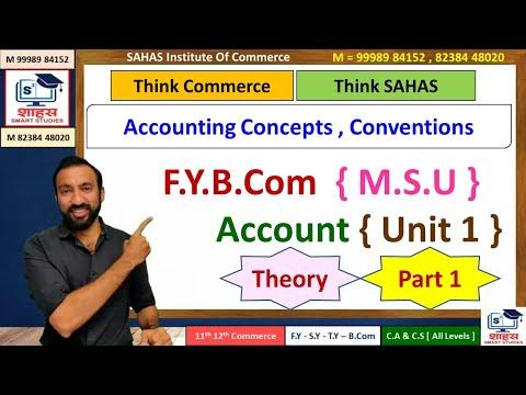 F.Y.B.Com [MSU] Account Unit 1 {Part 1} Smart Preparation - by Bhavin Sir [Sahas Institute]