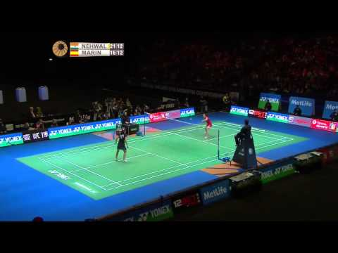 Saina Nehwal vs Carolina Marin | WS F Match 2 - Yonex All England Open 2015
