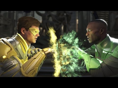 Injustice 2: Green Lantern Vs John Stewart  - All Intro/Outros, Clash Dialogues, Super Moves