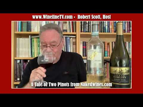 wine article A Naked Tasting A Tale Of Two Pinots