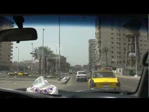 Driving Alexandria الإسكندرية to Cairo القاهرة - Egypt مصر