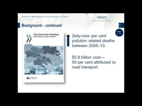 VAGO - Managing the Environmental Impacts of Transport