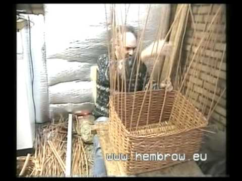 David Hembrow, Basketmaker. Making a large bicycle basket.