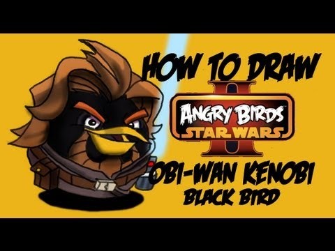 How To Draw Obi Wan Kenobi Angry Birds Star Wars 2 By Davide