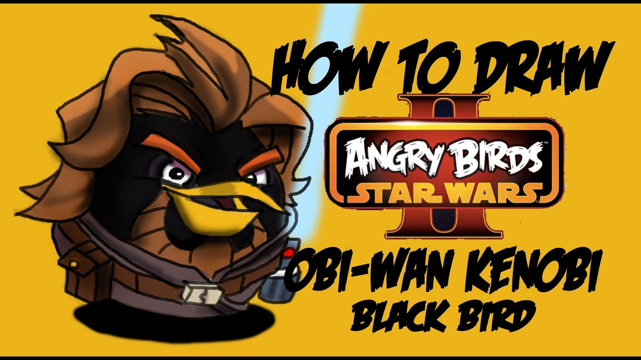 How To Draw Obi-Wan Kenobi (Angry Birds Star Wars 2) By