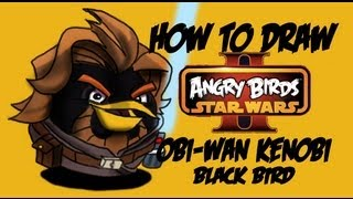 How to draw Obi-Wan Kenobi (Angry birds star wars 2) by Davide Ruvolo Speedpainter!!