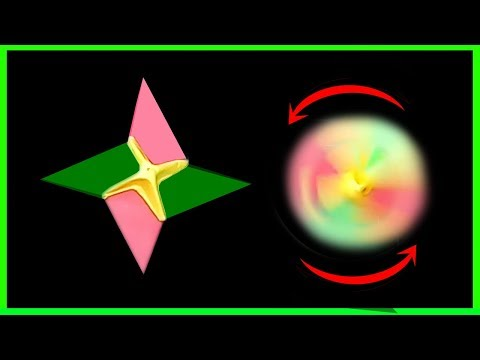 How To Make A Paper Fidget Spinner WITHOUT BEARINGS | Ninja Star Paper Fidget Spinner #Easy